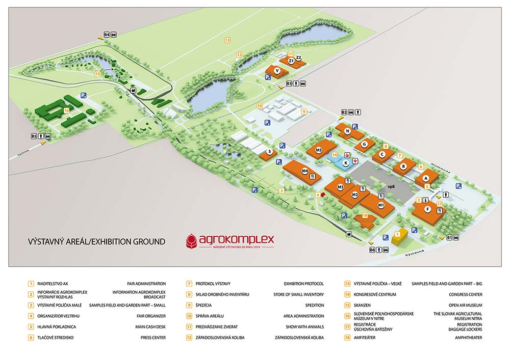 Map of Agrokomplex Nitra